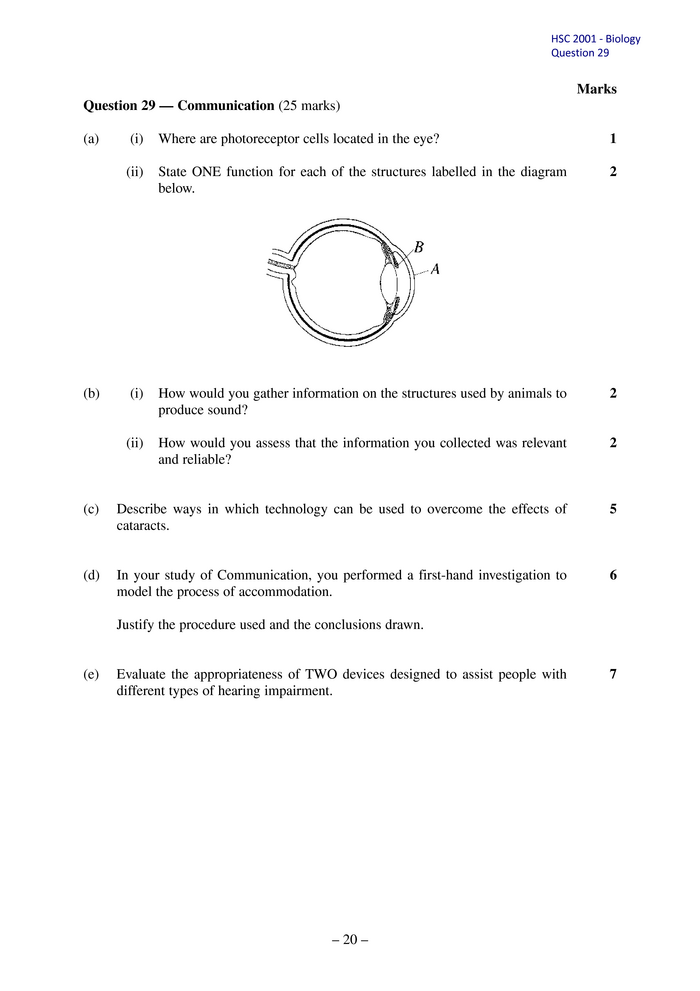 Arc section ii question 29 from the 2001 hsc examination ccuart Gallery