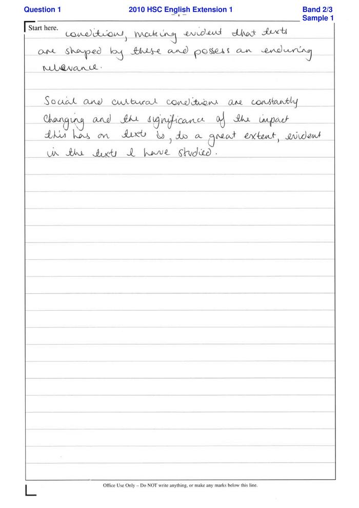 hsc essay marking online