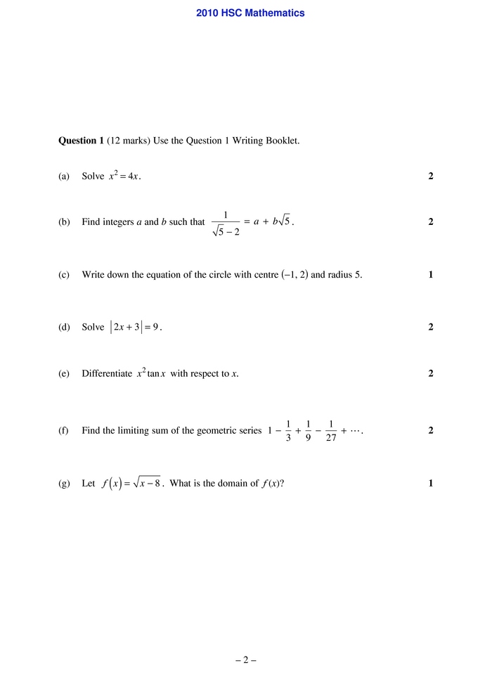 application of calculus to the physical world hsc pdf 3u